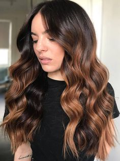 Pinterest: DEBORAHPRAHA ♥️ gorgeous color! copper caramel balayage hair color #haircolor