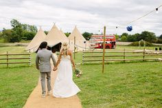 Bride & Groom portrait outside their country tipi reception- Image by Paper Angel Photography - Vivienne Westwood Bridal Gown For A Buddhist Outdoor Wedding In Worcestershire With Bridesmaids In J Crew And Images From Paper Angel Photography Back Garden Wedding, Garden Wedding Dresses, Garden Wedding Decorations, Daisy Hill, Paper Angel, Vivienne Westwood, Bride Groom, Bridal Gowns, Wedding Reception