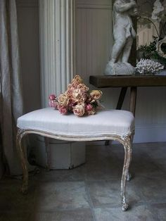 Antique Gold French Bench