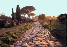 appian way-leading into rome-lined by tombs of nobility