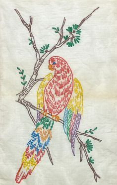 parrot by love to sew, via Flickr