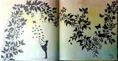 Folhas do Jardim Secreto. Oitavo colorido. Folha dupla. #jardimsecreto #folhas