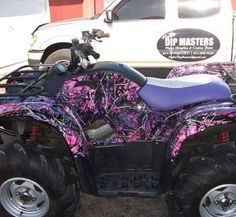 Muddy Girl camouflage four wheeler well I need a new one why not this one