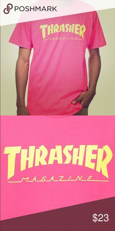 aec565cb790 Thrasher Magazine Logo Pink T-Shirt