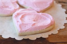 Latte Stand Shortbread Cookies With Pink Frosting Recipe | The Old Hen Bed & Breakfast and Blog