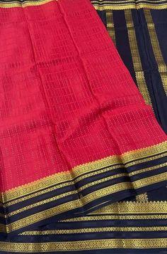 Crepe Silk Sarees, Silk Crepe, Pink Fabric, Woven Fabric, Mysore Silk Saree, Karnataka, Color Schemes, Sewing, Clothes