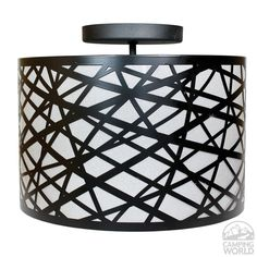 """13.5"""" Laser Cut Metal Drum Shade Dinette with beautiful contemporary styling to enhance any interior."""