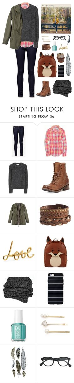 """Don't let doubt ever have its day..."" by a-sky-full-of-tardis ❤ liked on Polyvore featuring Jack Wills, American Eagle Outfitters, Valentino, Freebird, Pieces, Lanvin, Essie, Jules Smith and J.Crew"