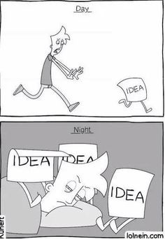 How it feels getting ideas for you novel. | writing, humor