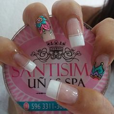 Supere trabajo Diy Nails, Cute Nails, Pretty Nails, Mandala Nails, Nails Only, Minimalist Nails, French Tip Nails, Beautiful Nail Designs, Manicure And Pedicure