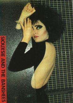 """bottom-dave-gahan:  """"Siouxsie Tinderbox Werbefotografie, 1986  """""""