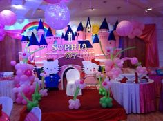 Kitty Characters for Kitty Theme Party Decorations by Leila Events
