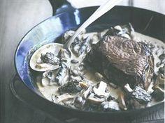 Steak s houbovou omáčkou a whisky