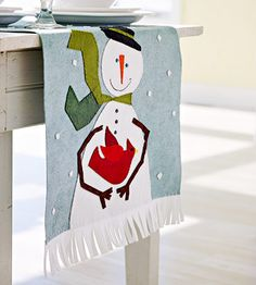 Decorando o Natal: Boneco de neve em feltro