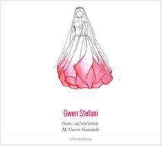 Gwen Stefani wedding dress John Galliano | | iconic wedding dress collection by VASHI