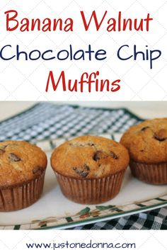 These yummy Banana Walnut Chocolate Chip Muffins are perfect for breakfast or an afternoon snack. Freeze them for your grab-and-go busy days.