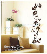 Klasické černé květy révy creativewall obtisk ZooYoo8139 dekorativní adesivo de Parede odnímatelný vinyl zeď nálepka (Čína (pevninská část))