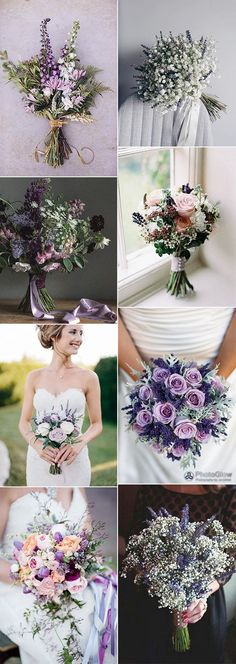 lavender themed wedding bouquets for 2018