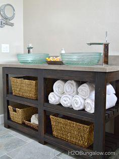 7 DIY Bathroom Vanities You Can Make Before the Guests Arrive >> http://blog.diynetwork.com/maderemade/2014/11/03/7-diy-bathroom-vanities-you-can-make-before-the-guests-arrive/?soc=pinterest