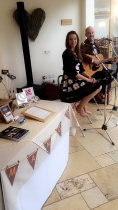 Mythe Barn Wedding Venue Open Evening June 2016 - Mango Acoustic Duo