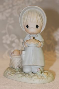 Precious Moments November 1988 Porcelain Enesco Figurine of the Month Sam…