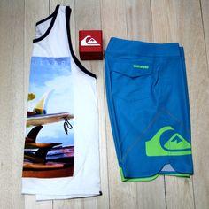Se aproximan las vacaciones… #Boardshorts #Quiksilver #camisilla #colombia