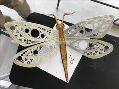 Aluminum plate dragonfly handmade and painted :)
