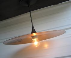 Upcycled cymbal light on Etsy @IndustrialFlicker