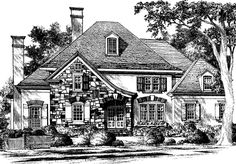 Old Field House - Spitzmiller and Norris, Inc. | Southern Living House Plans 3420 sqft, quaint curb appeal, not ordinary, nice sunny breakfast nook.