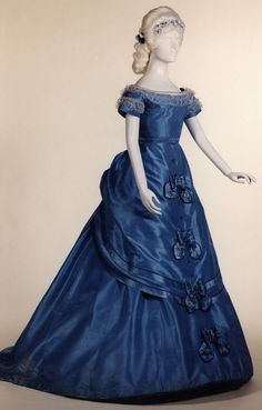 Dress with day and evening bodices, 1869-70