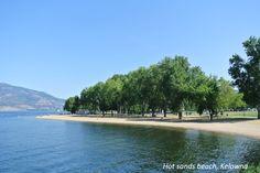 Hot Sands Beach in Kelowna, BC. Visit www.siestasuiteskelowna.com 1.800.663.4347