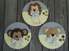 Boys Nursery Wooden  Wall  Decorations Set by LettersAndThings, $75.00