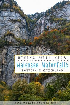 Hike along lake through forest to super tall waterfalls. Start with a ferry ride across the lake. Trail Signs, Visit Switzerland, Hiking With Kids, Main Attraction, Picnic Area, Public Transport, Hiking Trails, Waterfalls, Places To Visit