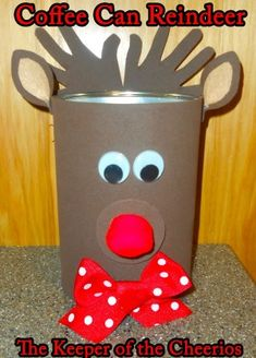 The Keeper of the Cheerios: Coffee Can Crafts (Formula Can Crafts) Coffee Can Crafts, Tin Can Crafts, Foam Crafts, Preschool Crafts, Kids Crafts, Christmas Crafts For Toddlers, Toddler Christmas, Holiday Crafts, Christmas Ideas