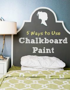 Not sure if you're ready for an entire chalkboard wall?  Try these ideas for small scale chalkboard surfaces collected by Infarrantly Creative.
