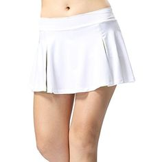 TopTie athletics skorts combines a fashion outer pleated skirt and built-in short. Designed with energetic colors and smooth fabric, it is perfect for badminton...