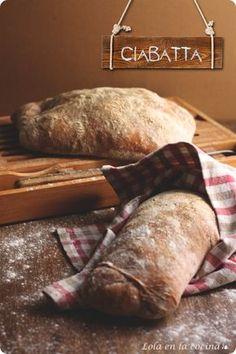 Ciabatta, Italian Bread From: Lola Cocina, please visit Italian Bread, Italian Cooking, Italian Dishes, Italian Recipes, Pan Bread, Bread Baking, Bread Recipes, Cooking Recipes, Italy Food