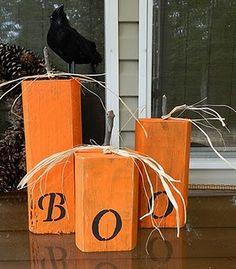 Wooden Boo Blocks