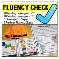 Reading Fluency Passages in 2 formats: Fluency Cards and Reading Comprehension printables plus comprehension signs for 2nd grade and 3rd grade. You will love how simple these fluency activities are to incorporate with your plans.  You will love the many uses, too.