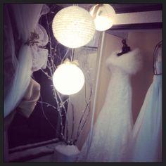 xmas inside Couture & Tiaras bridal shop