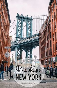 One day in Brooklyn, New York City. Stroll through Williamsburg, sample some of Brooklyn's best food, see the Manhattan skyline, and walk across the Brooklyn Bridge.  #brooklyn #newyorkcity #nyc #travelideas