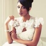 lovely lace bridal caplet. Photo: Geneviève Charbonneau