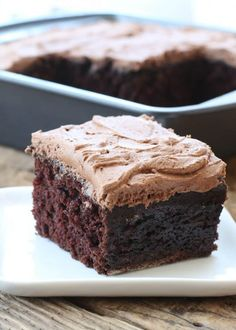 Also called a Wacky Cake, Depression Cake or War Cake, this Chocolate Crazy Cake is a simple chocolate cake that requires no dairy and no eggs. The Crazy Cake was created during World War I when ingredients were difficult to find and purchase. Crazy Cake Recipes, Crazy Cakes, Sweet Recipes, Easy Recipes, Vegan Recipes, Vegan Desserts, Delicious Desserts, Dessert Recipes, Vegan Sweets