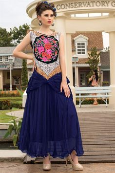 Marvelous Evening Party Wear Designer Embroidered Gown Just only RS. 2575