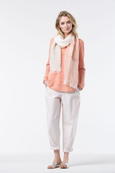 Ready for Spring at OSKA New York in colors Gerbera and Shell.