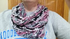 Crochet Fashionable Infinity Scarf In Surprise by JensNeedleKnows
