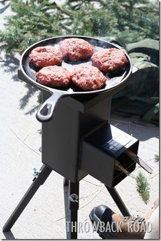 the best outdoor cook stove..The Deadwood Stove  http://www.throwbackroad.com/2012/02/deadwood-stove.html  Manufacturers website: http://www.deadwoodstove.com/