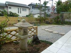 人工地盤の枯山水庭園リフォーム Bamboo Fence, My Design, Construction, Fire, Patio, Garden, Outdoor Decor, Home Decor, Building