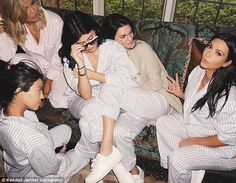 Selfie queens: Kendall Jenner shared this photo of the siblings hanging out at the baby sh...