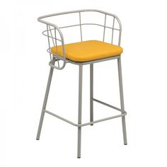 Jujube #Bar #Stool - In /Out - Upholstered Seat #industrial #cage #steel